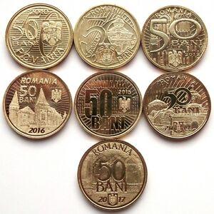 ROMANIA 7 Coins COIN 50 bani 2010 2011 2012 2014 2015 2016 2017 Romanian Rumania