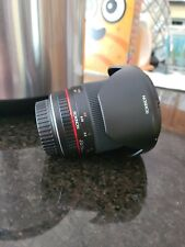 Rokinon 16mm f/2 CS AS UMC ED Lens For Canon Only Used Twice
