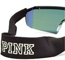 Victoria's Secret PINK SUNNIES SUNGLASSES neoprene CORD BLACK Bling Logo $18 New