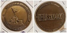 IWO JIMA Famous Flag Raising Medal of WWII Military minted by History Channel