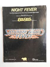 Bee Gees - Night Fever single sheet music piano guitar vocal
