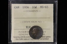 1956 Canada. 10 Cents. ICCS Graded MS-65. (XLV170)