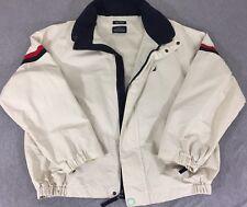 NAUTICA Mens Windbreaker Jacket  Size Large Khaki Lightweight