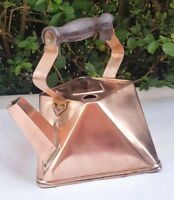 French Vintage cubism copper kettle Art Deco period 1920s Unusual collectible