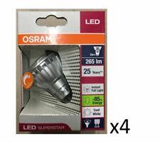 4 Stück Osram LED GU10 5W (35W), 840, 265 lm., 36G, Dimmbar, 25000 Stunden