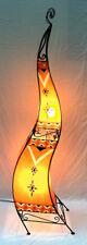 Moroccan Painted Henna Floor Lamp- square- 150 cm- orange