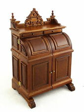 Dolls House Fine Platinum Miniature Study Furniture Walnut Wooton Secretary Desk
