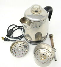 Farberware Electric Coffee Pot Vintage Super Fast Model 134 Clear Knob 2-4 Cups