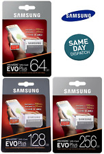 SAMSUNG EVO Plus Micro SD 64,128,256GB Class 10 Memory Card U3 w/SD Adapter
