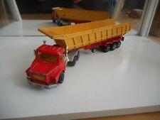 Majorette Scania Truck + Dump Trailer in Red/Yellow (Serie 3000)