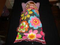 doll bedding for 18 inch american girl blanket pillow set snowflake on aqua 78