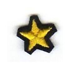 [Patch] STELLA PICCOLA MILAN JUVENTUS INTER giallo su nero cm 1,5x1,5 toppa -433