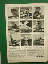 7/64 PUB BOEING CARGO 707 AIR FRANCE TWA SABENA QANTAS PAN AM AIRLINES GERMAN AD