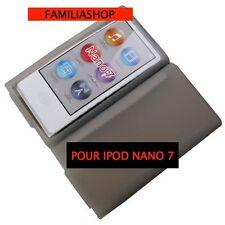 Housse etui coque silicone gris pour iPod Nano 7 7G + Film de protection écran