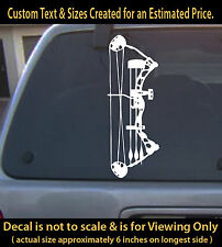Hunting archery bow vinyl  Decal
