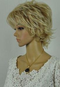 USJF830  vogue golden blonde mix short hair wig   wigs for women
