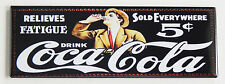 "Coca Cola ""Relieves Fatigue"" FRIDGE MAGNET (1.5 x 4.5 inches) sign soda"