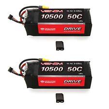 Traxxas X-Maxx Monster Truck 50C 3S 10500mAh 11.1V LiPo Battery by Venom x2 Pack