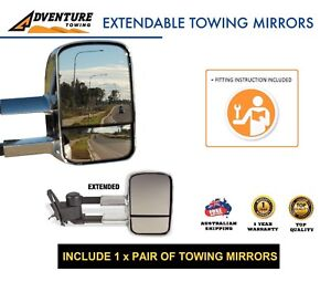 ADVENTURE TOWING EXTENDABLE MIRRORS FOR NISSAN PATROL Y61 GU WAGON 1997–ON CHRM