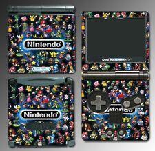 Nintendo Characters Mario Kart Link Zelda Metroid Video Game Skin Cover GBA SP