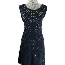 Cynthia Rowley Dress Womens Size L Blue Studs Pullover Sleeveless Scoop Neckline