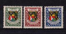Liechtenstein, 1927, 75 -77 postfrisch , Landeswappen, einwandfrei, siehe Scan