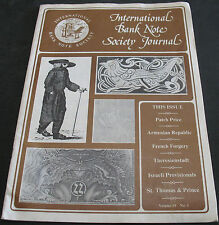 International Bank Note Society Journal Vol 19 #1 Armenian Republic, Israel +