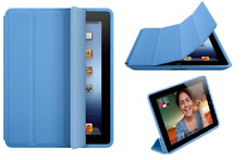 Genuine New Retail Boxed Apple iPad 2 3 & 4 Blue Folding Smart Case Full Cover