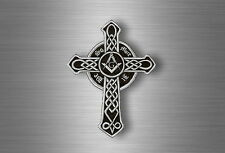 Sticker car biker motorcycle celtic cross masonic square compass freemason