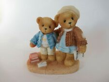 """New ListingCherished Teddies Enesco 2000 Clement & Jodie """"Try and Try Again"""" 706744 Gcib"""