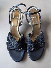 AS NEW Size 38.5 Joshua Italian Black Leather Women's Strappy Shoes