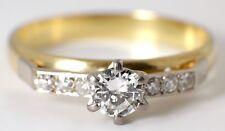 BEAUTIFUL VINTAGE 18 CARAT YELLOW GOLD & DIAMOND RING 1970s