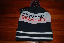 "NEW Brixton ""Fairmount"" Striped Skull Beanie Hat"