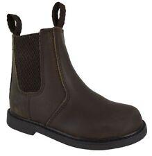 Chaussures marrons en cuir pour garçon de 2 à 16 ans Pointure 27