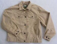 Cabela's Women's Polyurethane Faux Suede L/S Button Down Khaki Blazer Jacket - M