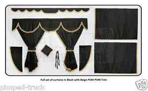 Truck curtains in BLACK (Scania, Man, Volvo, Renault, Iveco, Daf, Mercedes)