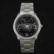 Custom Jaguar XKR Steering Wheel Instrument Cluster Stainless Steel Watch