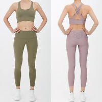 Women Ladies Running Leggings Bra Yoga Gym Sport Tracksuit Set Active wear