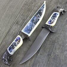 "13"" Arctic Wolf Dagger Knife w/ Collector'S Sheath Fantasy Steel Hunting Blade"