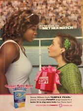Serena Williams, Tampax Pearl, Full Page Print Ad