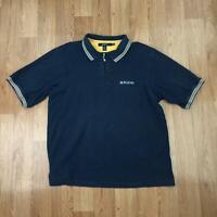 Vintage SEAN JOHN Mens Zip Collar Polo Shirt | Short Sleeve Retro | 3XL Blue