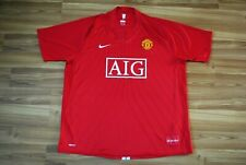 SIZE XXL MANCHESTER UNITED 2007-2008 HOME FOOTBALL SHIRT JERSEY NIKE AIG RED