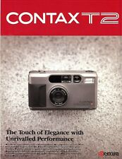 CONTAX T2 35mm CAMERA BROCHURE -CONTAX T2-ZEISS LENSES