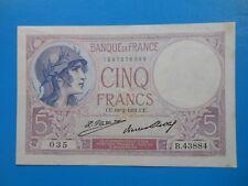 5 francs violet 19-2-31 F3/15 SUP