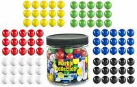 My Toy House Chinese Checkers Glass Marbles. Set of 90, 15 of Each Color. Size 9