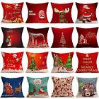 Christmas Xmas Santa Claus Cushion Cover Pillow Case Square Car Home Decor 43*43