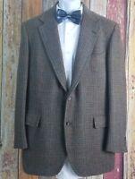 Vintage Brooks Brothers Men's Tweed Wool Brown Sport Coat Jacket 42 Regular