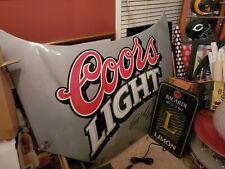 Vintage Coors Light Beer Nascar hood sterling marlin 90s rare bar 60x48 mancave