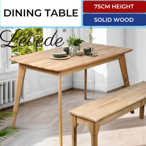 Levede Dining Table Coffee Tables Industrial Wooden Kitchen Modern Furniture Oak