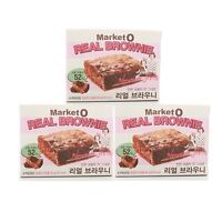 "Korean Delicious Snack ORION Market O ""REAL BROWNIE"" 288g(96g x 3BOX)"